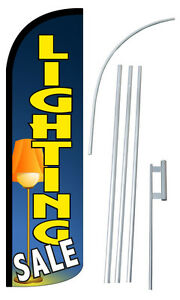 Lighting Sale Feather Flag Sign Blade Banner 30 Wider Super Swooper