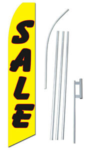 Sale Flag Tall Advertising Banner Flag Complete Sign Kit 2 5 Feet Wide Y r