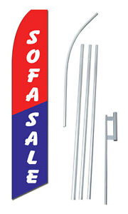 Sofa Sale Tall Advertising Banner Flag Complete Sign Kit 2 5 Feet Wide