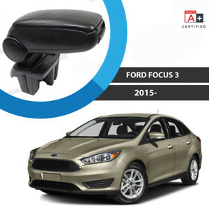 2015 2018 Ford Focus Black Leatherette Armrest No Cutting No Drilling Easy Inst