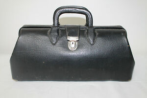 Vintage Kruse Black Leather Doctor S Bag Homa Kruse 1426