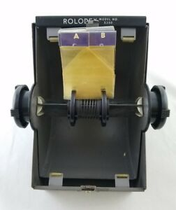 Vintage Rolodex 5350 Metal Industrial Address Business Recipe Card File Holder
