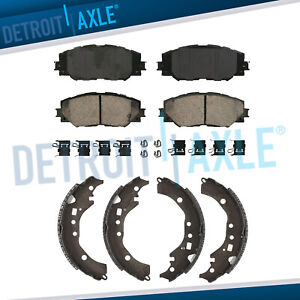 Front Ceramic Brake Pads Rear Shoes For 2009 2017 2018 Scion Xd Toyota Corolla