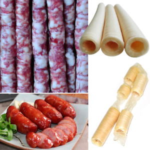 14m Natural Sausage Casings Skins Breakfast Smoked Sausage Collagen Casings