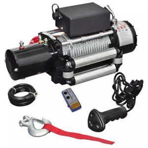 Electric Winch 13000 Lb 12v 6 Hp 4 5 Kw Winches 3 speed Drive Clutch Industrial