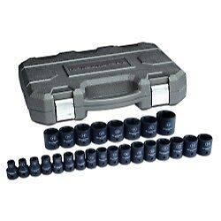 Kd Tools Kdt84933n 25 Pc 1 2 Drive 6 Point Metric Impact Socket Set