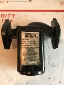 Used Taco 007 f5 Cast Iron Circulator Pump 120 Volt 1 25 Hp 007 Fresh Paint