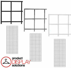Free Shipping 1 X 5 Grid Gridwall Panels Black White Or Chrome Case Of 3