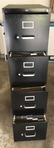 Hon Vertical Filing Cabinet Letter Size 4 Drawers 52 h X 15 w X 28 1 2 d Black