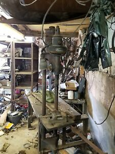 Wow Yates And American Co Early Model Combo Wood Lathe Drill Press Classic Nice