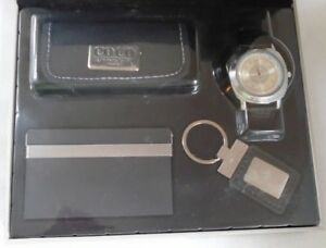 Vintage Element New York Gift Set Watch key Chain business Card Holder case