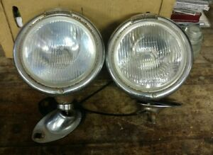 Vintage Headlights Both L r 7 Inch Lens 40 s
