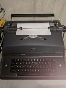 Black Vintage 1970 s Ibm Model 12 Electric Typewriter Ships Free