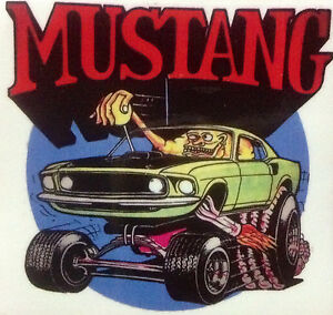 2 Pack Rat Rod Hot Rod Vintage Racing Sticker Mustang Rat Fink Tools Oil Gas