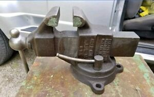 Vintage Reed Mfg Bench Vise No 204 Nice Very Heavy Local Pickup Only