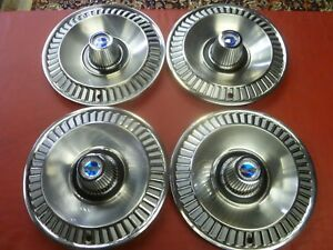 Vintage 1964 Ford Galaxie 500 14 Hubcaps Wheel Covers Very Nice Rare
