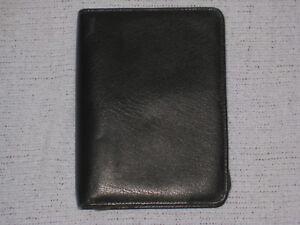 Franklin Covey Genuine Leather Compact Planner Black Made In Canada
