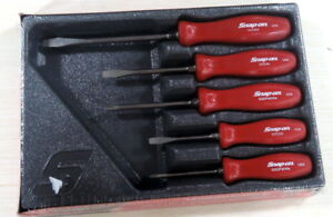 New Red Snap On Sddx50ar 5 Pc Hard Handle Screwdriver Set