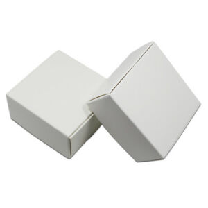 50x White Foldable Kraft Paper Box Wedding Favors Party Gift Candy Brown Package
