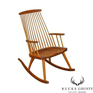 Thomas Moser Solid Cherry New Gloucester Rocker Rocking Arm Chair