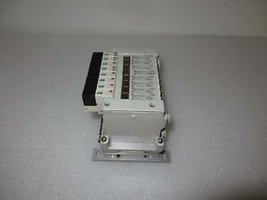 Smc Valve Bank With 8 Pneumatic Valves Vq1101ny 5 With Devicenet Ex160 sdn1a