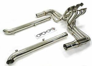 Maximizer Long Tube Header Side Pipes 65 74 Chevy Corvette Bbc Big Block 396 502