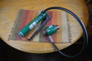 Greenlee 767 Hydraulic Hand Pump With 746 Ram