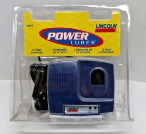 1215 New Lincoln Power Luber Grease Gun 12v Dc Battery Charger Free Shipping