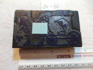 Old Wood And Metal Printing Block A Little Salty 8 Pager Or Tijuana Bible Type