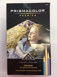 Prismacolor Premier Verithin Artist quality hard thin lead pencils 35 Count NEW