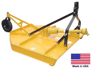 Field Brush Mower Rotary Cutter 3 Point Hitch Mounted Pto Driven 60 Cut