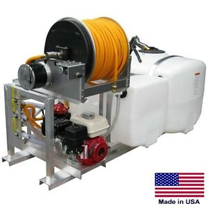 Sprayer Commercial Skid Mounted 100 50 Split Tank 9 5 Gpm 580 Psi 5 5 Hp