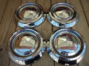 Vintage 1964 Chevy 409 Impala Belair Dog Dish Poverty Hubcaps Wheel Covers
