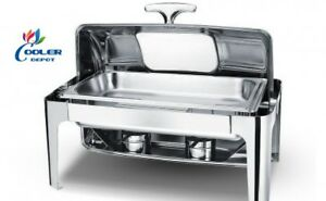 New Full Pan Electric Chafer Chafing Dish W Window Buffet Catering Ss Warmer