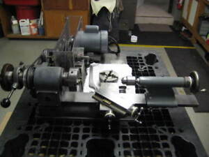 T s Precision Bench Top Lathe Hardinge Tailstock 3 4 Jaw 5c Jacobs