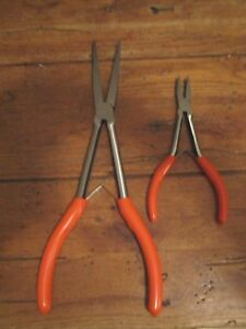 Lot Of Matco Tools Duck Bill Pliers 11 6 5 Orange Handle New