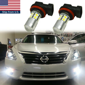 For Nissan Maxima Altima Rogue Pathfinder Front Fog Light 100w White Led Bulbs