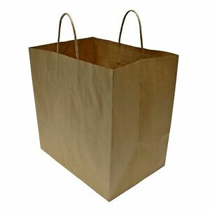 Artpack 02 15 3 022l Brown Kraft Paper Carry Bags With Twisted Handles 60pcs