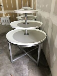 Retail White Three Tier Merchandise Display Table