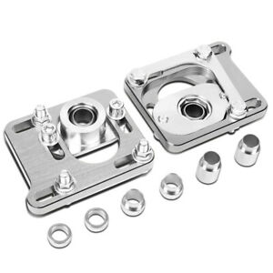 Fit 94 04 Ford Mustang 2 5 Adjustable Alignment Camber Caster Plates Silver