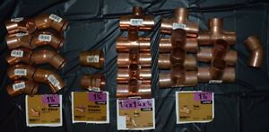 Lot Nibco 1 1 4 Copper Type C Wrot Solder Plumbing Fittings New 24 Pieces Total