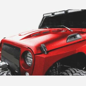 For 2007 2017 Jeep Wrangler Rubicon Jk Jku Heat Extract Vented Avg Steel Hood