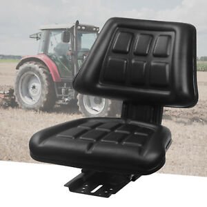 Univeral Tractor Seat Backrest Base slide Track Steel pvc Compact Mower Seating