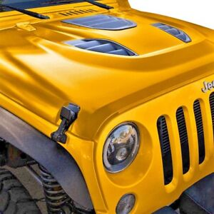 For 2007 2017 Jeep Wrangler Jk Jku 10th Anniversary Center Vents Steel Hood