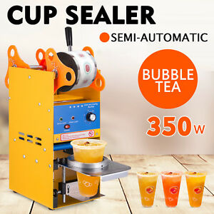 300 500 Cups h Semi automatic Tea Cup Sealing Pe Machine Stainless Steel Updated