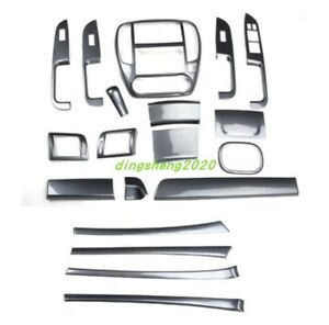 19pcs Carbon Fiber Style Car Interior Kit Cover Trim For Nissan Sylphy 2009 2017