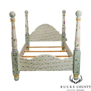 Habersham Plantation Hand Painted Full Size Poster Bed