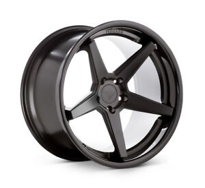 20 Ferrada Fr3 20x9 20x10 5 Black Concave Wheels Rims Fits Ford Mustang Gt