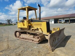 1997 Caterpillar D4c Lgp Hystat Bulldozer 6 Way Diesel Crawler Tractor Machine
