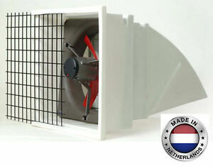 Exhaust Fan Commercial Incl Hood Screen Shutters 24 3 Spd 6203 Cfm 1